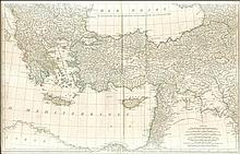 Untitled map of the end of 18th century, impressive dim.82x54cm, from the shores of Egypt to the Black Sea and from Greece to Armenia & Iraq, including part of the Balkans, Turkey, Cyprus & Syria.