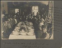 Surmene (Σούρμενα), banquet for visiting professors from Trabzon, held at Kirimiza orphanage, in 1918