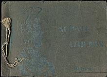 ΑΘΗΝΑΙ ATHENES SOUVENIR / έκδοσις Φωτοτυπείου Α. ΓΚΙΝΑΚΟΥ και Γ. ΜΑΡΓΑΡΙΤΗ 14 photos 20x13.5cm in album c.1900 with photo titles in Greek & English.
