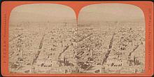SEBAH Pascal. Athens c.1875. Seven (7) stereoscopic albumen photos, presenting panoramic views of Lycabettus, Athens centre & Acropolis. On passe-partouts of Sebahs photo studio in Constantinople.