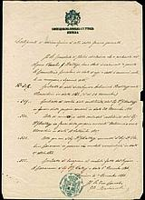 Smyrna - Italian Consulate 1866. Official document with title cachet