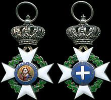 Royal Order of the Redeemer - ???µa t?? S?t???? (1863 issue), Knight s Silver Cross - ?s?µ????? Sta???? t?? S?t????. In silver and enamels, 36x57mm. Without ribbon. In an overall EXCELLENT condition