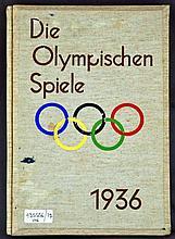 Die Olympischen Spiele 1936 (Raumbild-Zeitgeschichte, Band I), Diessen a. Ammersee: Raumbild-Verlag Otto Sch?nstein, 1936. First edition. Hardcover.  Quarto. 55, [7]pp. Stereoscope