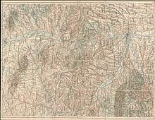 ADRIANOPEL Artaria & Co, Wien (der k.u.k.). c.1910. High detailed map of the Vilayet of Adrianople (Edirne) by the Austrian cartographic institute, with listed place-names of the Ottoman period. 12 map sheets attached on linen fabric