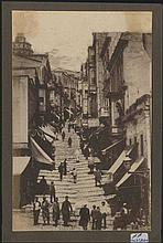 BERGGREN C. - Constantinople, c.1890. Beautiful view of everyday life at PERA, and along the city walls. One photo of
