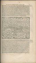 Militaris Ordinis Iohannitarum, Rhodiorum... Historia, PANTALEON Heinrich, printed in 1581, Basel [Thomas Guarinus]. Folio (20x32cm), 387pp + 11pp Index + 5pp. Woodcut printers device on title, woodcut illustrations including views of Jerusalem, Tyre