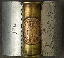 Original WWI Trench Art aluminium napkin ring, engraved
