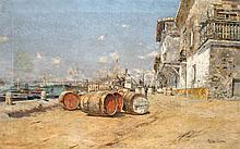 Spanische Hafenansicht
