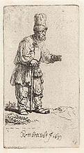 REMBRANDT HARMENSZ VAN RIJN  Ein Bettler mit einem hohen Hut