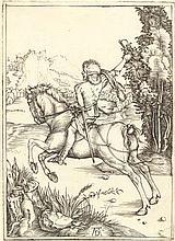 ALBRECHT DÜRER  Galoppierender Reiter (Der kleine Kurier).