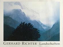 GERHARD RICHTER  Plakat: Gerhard Richter Landschaften.