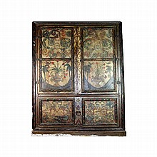 Painted cabinet with floral motifs