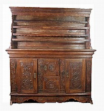 Baroque oak sideboard