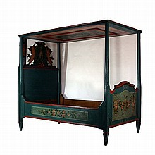 Peasant canopy bed