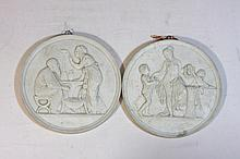Two plaques with antique motifs