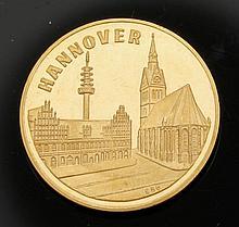 Medaille Deutschland. - Hannover Messestadt -...