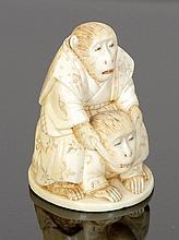 Netsuke Japan, 19. Jahrhundert. - Affenpaar -...