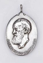 Jubiläums-Medaille als Anhänger 1912. - 'Alfr...