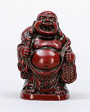 Netsuke Japan, um 1900. - Budai mit Sack und ...