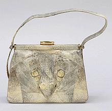 Damenhandtasche Echsenleder. 15 x 20 x 7 cm. ...