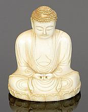 Buddha Japan. Elfenbein. H. 7,5 cm. Sign. - Z...