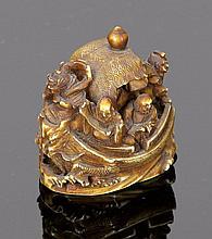 Netsuke Japan, 19. Jahrhundert. - 'Takarabune...