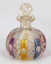 Flakon. Böhmen. um 1860. Farbloses Glas. ...