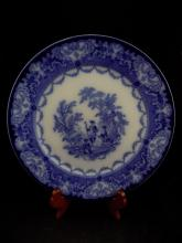Bursley England Watteau Doulton Blue and White Plate