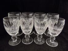 8 Waterford Crystal Glasses, 4 Small, 4 Larger