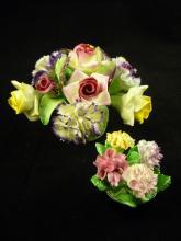 Two Floral Porcelains