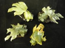 4 Carved Jade Fish