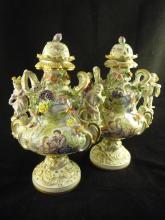 Pair of Meissen Lidded Urns