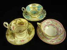 Lot of 3 Tea Cups and Saucers