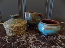 Lot of 3-pieces of Quebec Pottery