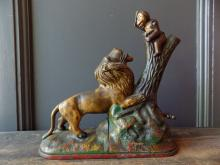 Lion and Monkey Coin Bank