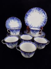 Very fine Royal Doulton Burslem Set of 6 Teacups, Saucers and Side Plates