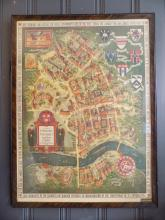 VIntage 1935 Harvard Campus Map