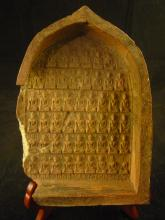 Antique Terra Cotta Plaque depicting Buddhas