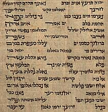 Torah scroll in Ancient Ashkenazi Writing, Written According to Early Ashkenazi Tradition and with Rare Crownlets of Unusual and Odd Letters, 16th/17th Century