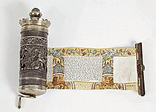 Miniature Manuscript Illustrated Megillat Kohelet [Book of Ecclesiastes Scroll] on Parchment