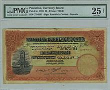 Five Palestine Pounds Banknote, 1939