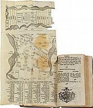 Former Prophets - Livorno, 1780 - Copy with Two Hebrew Maps