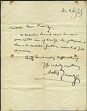 Album of Autographs and Personal Dedications - Musicians, Authors and Intellectuals - Vienna, 1906-1952 - Handwritten Letters by Max Brod and Arthur Schnitzler / Autographs by Erich Kästner and Many Others