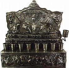 Silver Hanukkah Lamp -