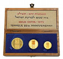 Three Gold Medals - State of Israel's 25th Anniversary
