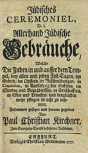 Paul Christian Kirchner - Jewish Customs and Ceremonies - Germany, 1717 - First Edition
