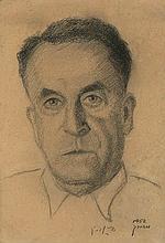 Five Signed Portraits - Agnon, Uri Zvi Greenberg, Shlonski, Fichman, Buber