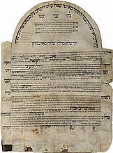 Emissary's Letter on Parchment - Ma'aravim Community - Jerusalem, 1907