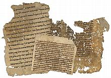 Collection of Fragments of Ancient Handwritten and Printed Leaves