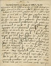 Manuscript - Homiletics and Eulogies by Rabbi David Suditsch - Son-in-law of Rabbi Yehuda Asad